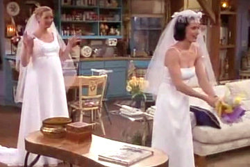 Phoebe Monica Similarly On Friends In The One With All Wedding Dresses