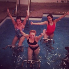Aquacycling with Anne!