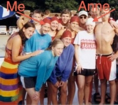 Anne and me in our swim team days!