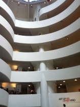 Inside the Guggenheim.