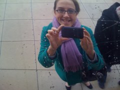 Me in 2010, the day I embarked on my blogging journey. Hey there, iPhone 3!