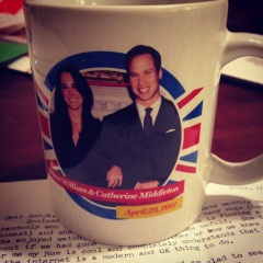 The mug and the letter.