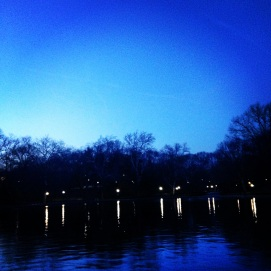 Central Park Boat Pond on a recent night. Doesn't even feel like the city!