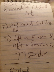 Hand held notebooks are useful for scribbling down directions to parties.